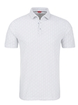 White Golf Clubs Knit Performance Polo | Stone Rose Polos Collection | Sam's Tailoring