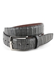 Grey South American Caiman Men's Belt | Torino Leather Exotic Belts | Sam's Tailoring Fine Men Clothing