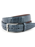 Blue Jean South American Caiman Men's Belt | Torino Leather Exotic Belts | Sam's Tailoring Fine Men Clothing