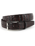 Black Cherry South American Caiman Belt | Torino Leather Exotic Belts | Sam's Tailoring Fine Men Clothing