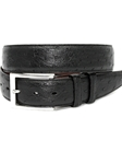 Black Genuine South African Ostrich Belt | Torino Leather Exotic Belts | Sam's Tailoring Fine Men Clothing