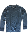 Lennon Blue Long Sleeve Lightweight Thermal | Georg Roth Long Sleeves T-shirts | Sam's Tailoring Fine Men Clothing