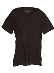 Chocolate Crew Neck Short Sleeves Cotton t-shirt | Georg Roth Crew Neck T-shirts | Sam's Tailoring Fine Men Clothing