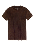 Brown Garment Dyed Short Sleeves Cotton t-shirt | Georg Roth Crew Neck T-shirts | Sam's Tailoring Fine Men Clothing