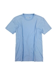Sky Blue Crew Neck Short Sleeves Cotton t-shirt | Georg Roth Crew Neck T-shirts | Sam's Tailoring Fine Men Clothing