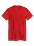 Red Crew Neck Short Sleeves Cotton t-shirt | Georg Roth Crew Neck T-shirts | Sam's Tailoring Fine Men Clothing
