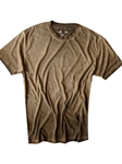 Coffee Garment Dyed Short Sleeves t-shirt | Georg Roth Crew Neck T-shirts | Sam's Tailoring Fine Men Clothing