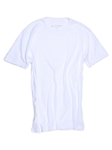 White Crew Neck Short Sleeves Cotton t-shirt | Georg Roth Crew Neck T-shirts | Sam's Tailoring Fine Men Clothing