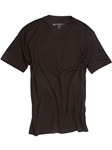 Chocolate Short Sleeves V-Neck Pima Cotton T-shirt | Georg Roth V-Neck T-shirts | Sam's Tailoring Fine Men Clothing