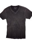 Basalt Grey Vintage Washed Short Sleeves T-Shirt | Georg Roth V-Neck T-shirts | Sam's Tailoring Fine Men Clothing