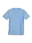 Sky Blue V-Neck Cotton Short Sleeves T-shirt | Georg Roth V-Neck T-shirts | Sam's Tailoring Fine Men Clothing