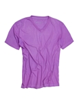 Purple V-Neck Cotton Short Sleeves T-shirt | Georg Roth V-Neck T-shirts | Sam's Tailoring Fine Men Clothing