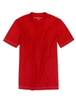 Red V-Neck Pima Cotton Short Sleeves T-shirt | Georg Roth V-Neck T-shirts | Sam's Tailoring Fine Men Clothing