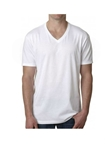 White V-Neck Men's Short Sleeves T-Shirt | Georg Roth V-Neck T-shirts | Sam's Tailoring Fine Men Clothing