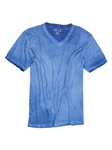 Royal Blue Garment Dyed V-Neck Men's T-Shirt | Georg Roth V-Neck T-shirts | Sam's Tailoring Fine Men Clothing