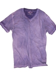 Purple Dyed Washed V-Neck Men's T-Shirt | Georg Roth V-Neck T-shirts | Sam's Tailoring Fine Men Clothing