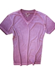 Plum Dyed Washed Men's V-Neck T-Shirt | Georg Roth V-Neck T-shirts | Sam's Tailoring Fine Men Clothing