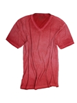 Brick Garment Dyed V-Neck Men's T-Shirt | Georg Roth V-Neck T-shirts | Sam's Tailoring Fine Men Clothing