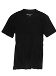 Black Pima Cotton Short Sleeves V-Neck T-shirt | Georg Roth V-Neck T-shirts | Sam's Tailoring Fine Men Clothing