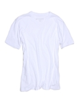 White Pima Cotton Short Sleeves V-Neck T-shirt | Georg Roth V-Neck T-shirts | Sam's Tailoring Fine Men Clothing