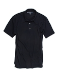 Navy Round Collar Pima Cotton Men's Polo | Georg Roth Los Angeles Polos | Sam's Tailoring Fine Men Clothing