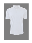 White Short Sleeves Pima Cotton Mens Polo | Georg Roth Los Angeles Polos | Sam's Tailoring Fine Men Clothing