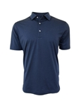 Navy Short Sleeves Pima Cotton Men's Polo | Georg Roth Los Angeles Polos | Sam's Tailoring Fine Men Clothing