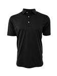 Black Short Sleeves Pima Cotton Mens Polo | Georg Roth Los Angeles Polos | Sam's Tailoring Fine Men Clothing