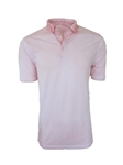Pink Luxe Pima Short Sleeves Men's Polo | Georg Roth Los Angeles Polos | Sam's Tailoring Fine Men Clothing