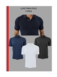 Three (3) Pack Luxe Pima Cotton Men's Polo | Georg Roth Los Angeles Polos | Sam's Tailoring Fine Men Clothing