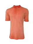 Orange Luxe Pima Short Sleeves Mens Polo | Georg Roth Los Angeles Polos | Sam's Tailoring Fine Men Clothing
