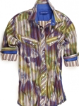 Multi Color Vivid Shades Cancun Big & Tall Shirt | Georg Roth Big & Tall Shirts | Sams Tailoring Fine Mens Clothing