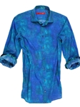 Royal & Turquoise Print Big and Tall Shirt | Georg Roth Big & Tall Shirts | Sams Tailoring Fine Mens Clothing