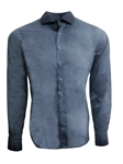 Blue Garment Dyed Dubai Cotton Men Shirt | Georg Roth Solid Shirts | Sams Tailoring Fine Mens Clothing