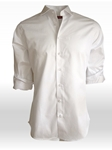 White Super Soft Los Angeles Long Sleeves Shirt | Georg Roth Solid Shirts | Sams Tailoring Fine Mens Clothing