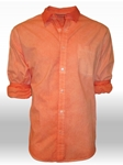 Orange Garment Dyed Hilton Head Men Shirt | Georg Roth Solid Shirts | Sams Tailoring Fine Mens Clothing