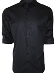 Black Tone On Tone Manhattan Men's Shirt | Georg Roth Solid Shirts | Sams Tailoring Fine Mens Clothing