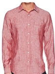 Brick Red Pismo Beach Long Sleeve Men Shirt | Georg Roth Solid Shirts | Sams Tailoring Fine Mens Clothing