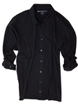 Black Solid Luxe Pima Long Sleeves Men Shirt | Georg Roth Long Sleeves Shirts | Sams Tailoring Fine Mens Clothing
