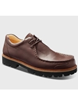 Saddlebag Brown Leather With Black Lug Sole Shoe | Samuel Hubbard Shoes | Sam's Tailoring Fine Men Clothing