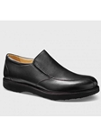 Black Leather With Black Sole Men's Casual Shoe | Samuel Hubbard Shoes | Sam's Tailoring Fine Men Clothing