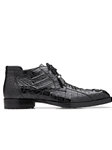 Black Hornback Crocodile Gayland Ankle Boot | Belvedere Shoes Collection | Sam's Tailoring Fine Mens Clothing
