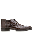 Brown Hornback Crocodile Gayland Ankle Boot | Belvedere Shoes Collection | Sam's Tailoring Fine Mens Clothing