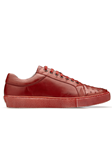 Antique Red Ostrich & Calf Jacob Men's Sneaker | Belvedere Shoes Collection | Sam's Tailoring Fine Mens Clothing