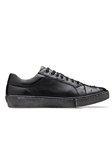Black Ostrich & Calf Jacob Men's Sneaker | Belvedere Shoes Collection | Sam's Tailoring Fine Mens Clothing