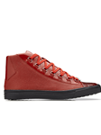 Red Crocodile & Calf Angelo Men Sneaker | Belvedere Shoes Collection | Sam's Tailoring Fine Mens Clothing