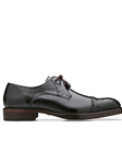 Black Alligator & Calf Cap Toe Bala Shoe | Belvedere Shoes Collection | Sam's Tailoring Fine Mens Clothing