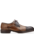 Antique Almond Alligator & Calf Cap Toe Bala Shoe | Belvedere Shoes Collection | Sam's Tailoring Fine Mens Clothing