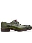 Emerald Safari Alligator & Calf Cap Toe Bala Shoe | Belvedere Shoes Collection | Sam's Tailoring Fine Mens Clothing