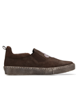 Brown Nubuck Lizard Kane Men's Sneaker | Belvedere Shoes Collection | Sam's Tailoring Fine Mens Clothing